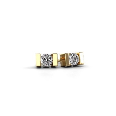 Oorstekers Lieve 585 goud diamant 0.40 crt