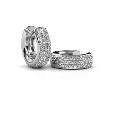 Foto van Creolen Lana 585 witgoud diamant 0.402 crt