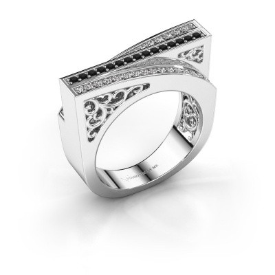 Picture of Ring Magda 585 white gold black diamond 0.36 crt