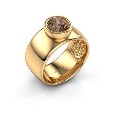 Foto van Ring Klarinda 585 goud bruine diamant 1.30 crt