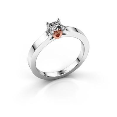 Foto van Belofte ring Eliz 585 witgoud diamant 0.30 crt