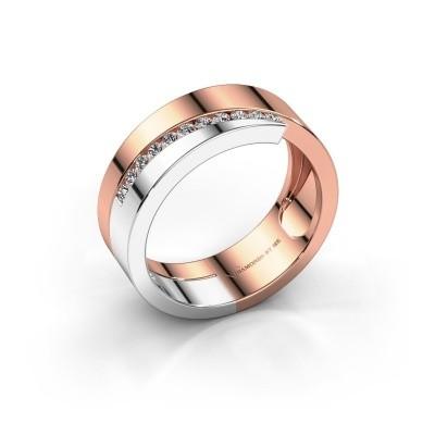 Foto van Ring Loma 585 rosé goud lab created 0.165 crt