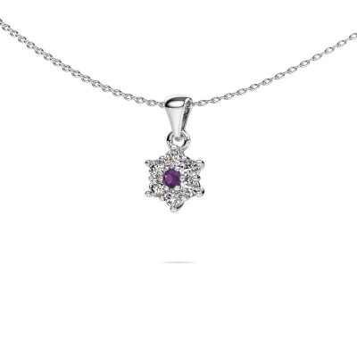Picture of Necklace Chantal 585 white gold amethyst 2.4 mm