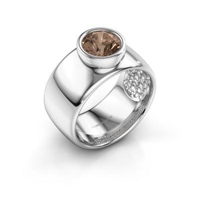 Foto van Ring Klarinda 925 zilver bruine diamant 1.30 crt