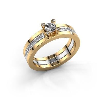 Foto van Ring Alisha 585 goud diamant 0.36 crt