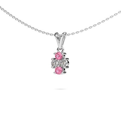 Picture of Necklace Richelle 950 platinum pink sapphire 3 mm