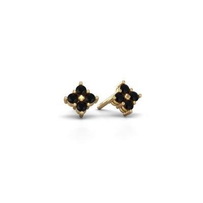 Bild von Ohrsteckers Maryetta 375 Gold Schwarz Diamant 0.288 crt