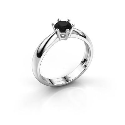 Foto van Verlovingsring Fay 585 witgoud zwarte diamant 0.60 crt
