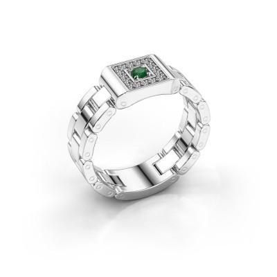 Foto van Rolex stijl ring Giel 950 platina smaragd 2.7 mm