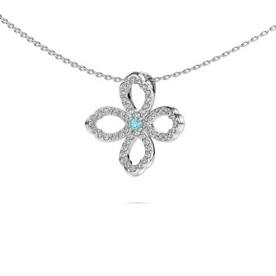 Picture of Necklace Chelsea 925 silver blue topaz 2 mm