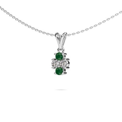 Picture of Necklace Richelle 950 platinum emerald 3 mm
