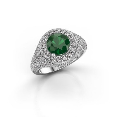 Picture of Ring Dayle 585 white gold emerald 7 mm