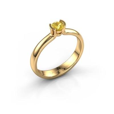 Foto van Verlovingsring Ophelia 585 goud gele saffier 4 mm
