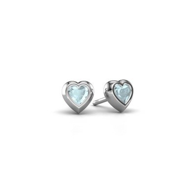 Picture of Stud earrings Charlotte 925 silver aquamarine 4 mm
