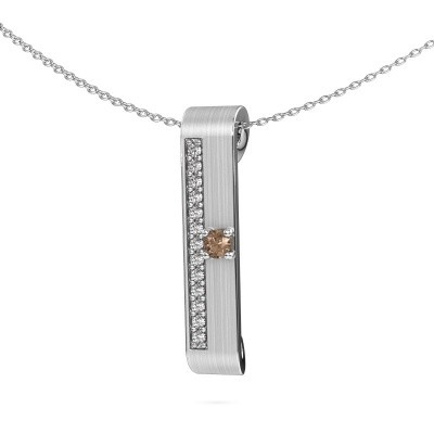 Picture of Necklace Vicki 950 platinum brown diamond 0.295 crt
