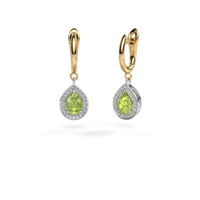 Picture of Drop earrings Ginger 1 585 white gold peridot 7x5 mm