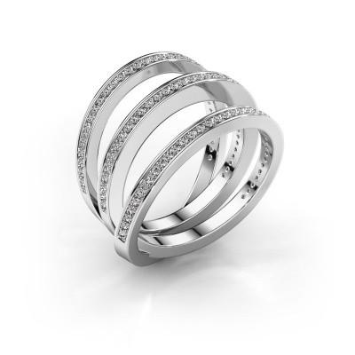 Foto van Ring Jaqueline 950 platina diamant 0.55 crt