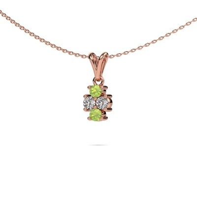 Picture of Necklace Richelle 585 rose gold peridot 3 mm