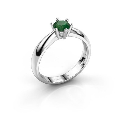 Foto van Verlovingsring Fay 585 witgoud smaragd 5 mm