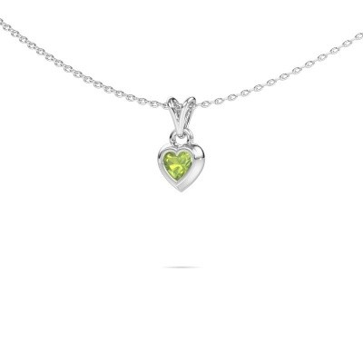 Picture of Pendant Charlotte Heart 375 white gold peridot 4 mm