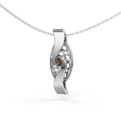 Picture of Pendant Darleen 925 silver smokey quartz 3 mm