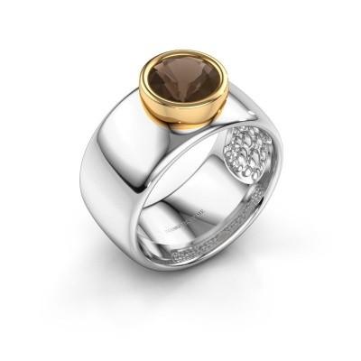 Picture of Ring Klarinda 585 white gold smokey quartz 7 mm