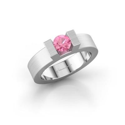 Foto van Ring Leena 1 925 zilver roze saffier 5 mm
