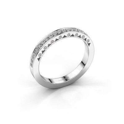 Ring Yasmine 585 witgoud diamant 0.245 crt