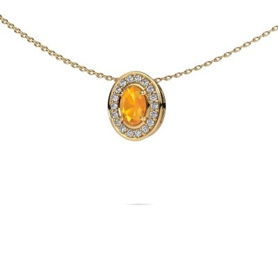 Picture of Necklace Madelon 585 gold citrin 6x4 mm