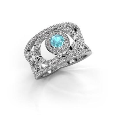 Picture of Ring Regina 585 white gold blue topaz 4.2 mm