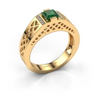 Foto van Heren ring Jonathan 585 goud smaragd 5 mm