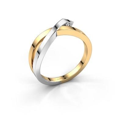 Ring Alyssa 585 goud diamant 0.03 crt