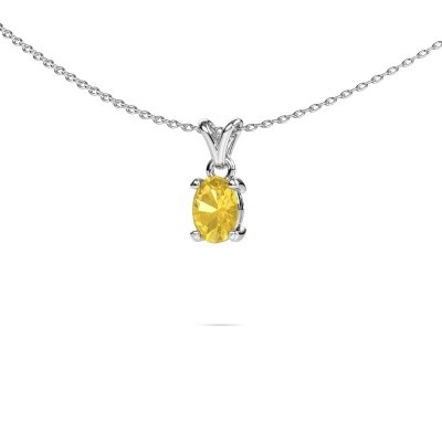 Picture of Necklace Lucy 1 950 platinum yellow sapphire 7x5 mm