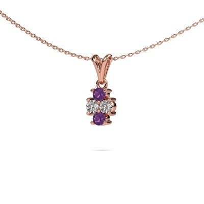 Picture of Necklace Richelle 585 rose gold amethyst 3 mm