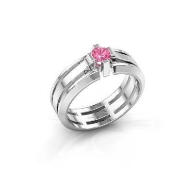 Foto van Heren ring Sem 950 platina roze saffier 4.7 mm