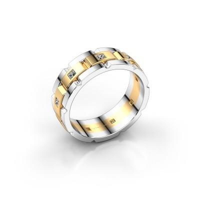Rolex stijl ring Ricardo 585 goud diamant 0.45 crt