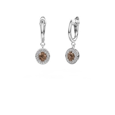 Picture of Drop earrings Nakita 585 white gold brown diamond 0.880 crt