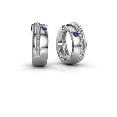Picture of Hoop earrings Shakita 925 silver sapphire 2 mm
