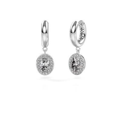 Picture of Drop earrings Annett 950 platinum zirconia 7x5 mm