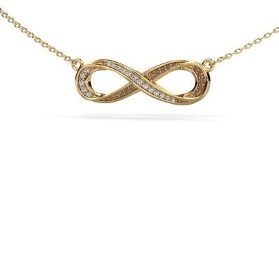 Bild von Halskette Infinity 2 585 Gold Braun Diamant 0.123 crt