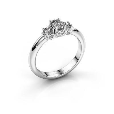Foto van Verlovingsring Frederique 585 witgoud diamant 0.39 crt