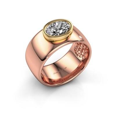 Foto van Ring Anouschka 585 rosé goud zirkonia 8x6 mm