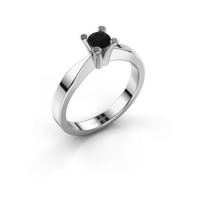 Foto van Verlovingsring Ichelle 1 585 witgoud zwarte diamant 0.36 crt