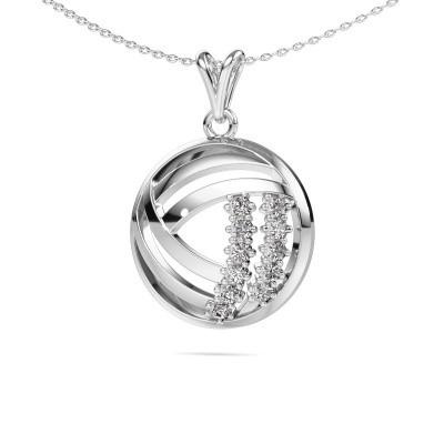 Collier Jayne 585 witgoud diamant 0.330 crt