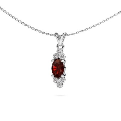 Picture of Pendant Lucy 2 585 white gold garnet 7x5 mm