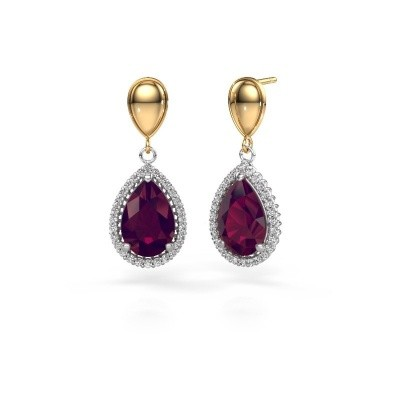 Picture of Drop earrings Cheree 1 585 white gold rhodolite 12x8 mm