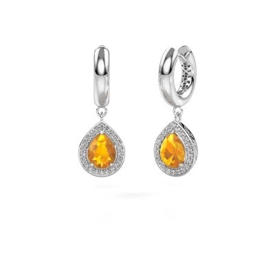 Picture of Drop earrings Barbar 1 585 white gold citrin 8x6 mm