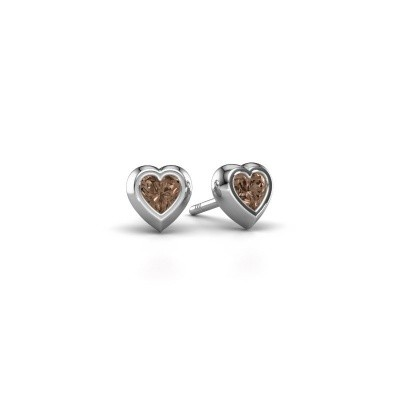 Picture of Stud earrings Charlotte 925 silver brown diamond 0.50 crt