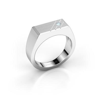 Foto van Heren ring Dree 5 925 zilver aquamarijn 2.4 mm