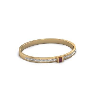 Foto van Armband Desire 585 goud rhodoliet 4 mm